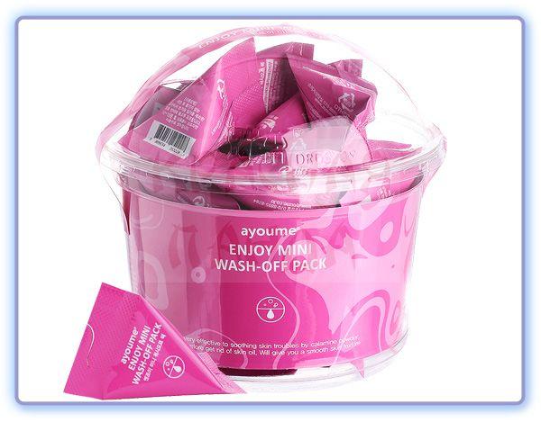 Успокаивающая маска для лица с каламином Ayoume Enjoy Mini Wash Off Pack