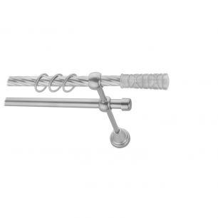 Карниз металлический круглый двухрядный витой сатин МК 021 наконечник Мозайка