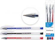 Набор гелевых ручек, прозрачный корпус, 1,0 mm, 3 цвета (арт. S 706-3)