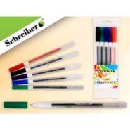 Набор гелевых ручек, прозрачный корпус, 0.7 mm, 5 цветов (арт. S 825 A-5)