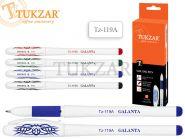 Ручка гелевая: синяя, белый пластиковый корпус, резиновый держатель (арт. Tz-119 A)