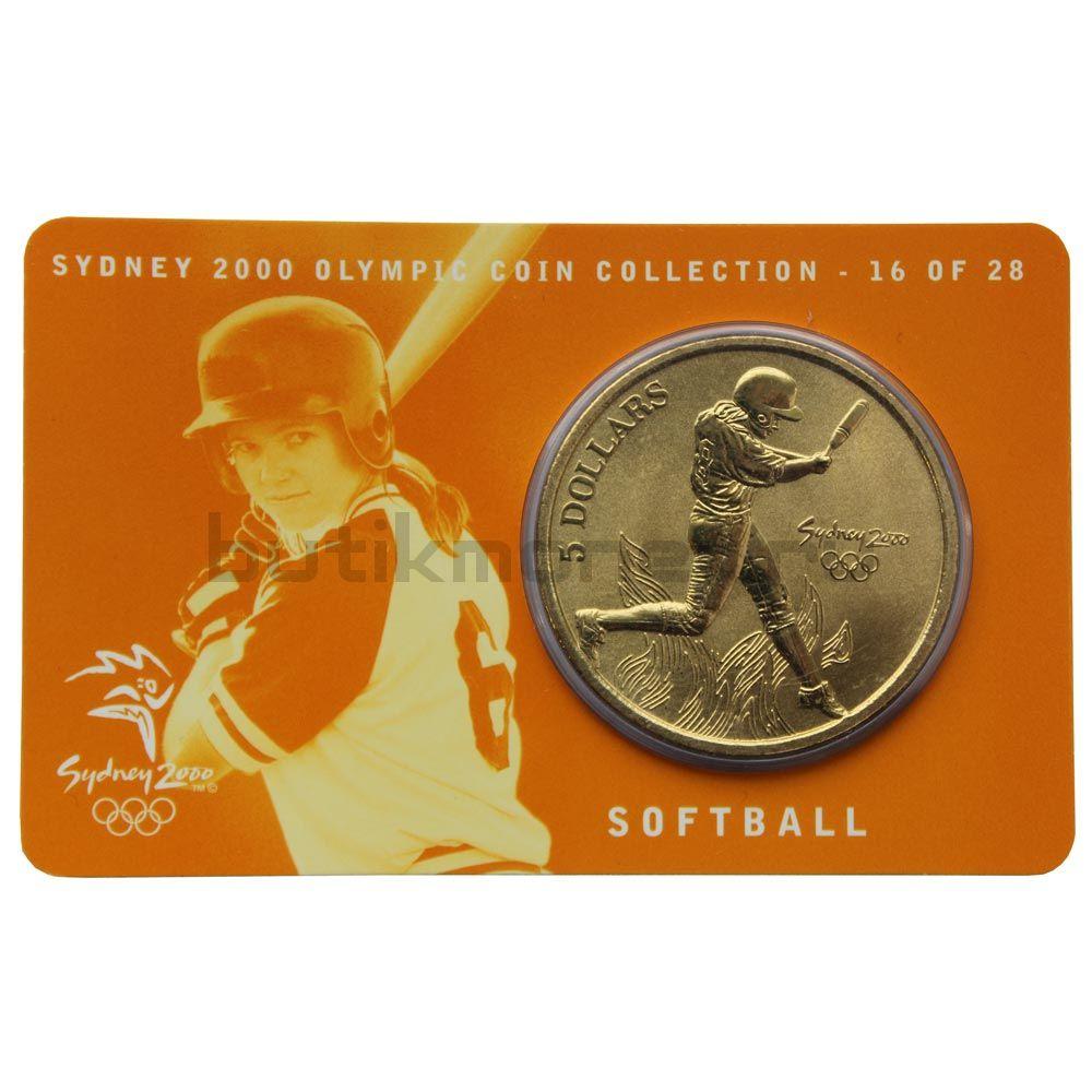 5 долларов 2000 Австралия Софтбол (Олимпийские игры в Сиднее)