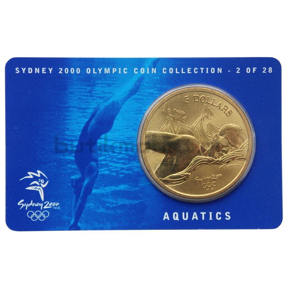 5 долларов 2000 Австралия Плавание (Олимпийские игры в Сиднее)