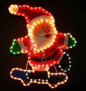 """Фигура """"Дед Мороз на скейте"""" (70х58 см)"""