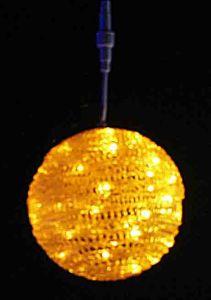 Шар подвесной LED (20 см, желтый)