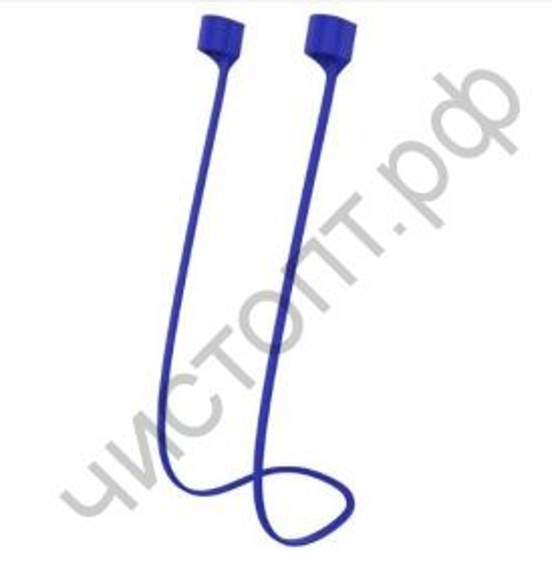 Шнурок силиконовый для APods магнитный синий