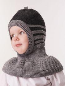 """ММ Шапка дет. """"Шлем Артур"""" хб подкл Цвет серый"""