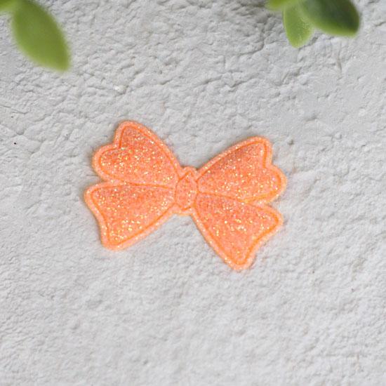 Кукольный аксессуар - Патч Бантик оранжевый 3,3*2,3 см., 1шт