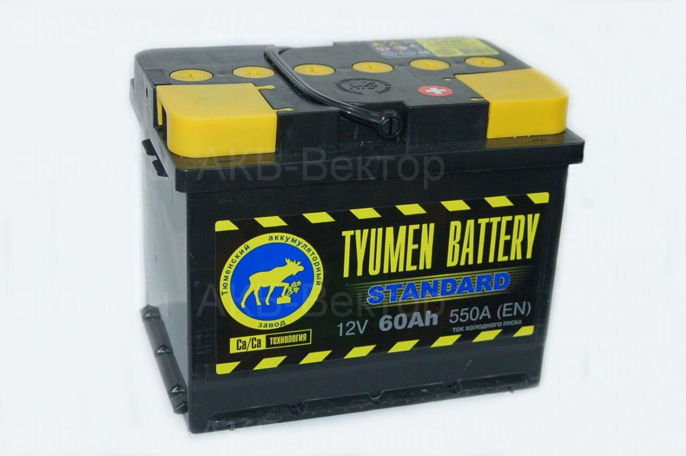 Tyumen Standart  60Ач 550А(EN)