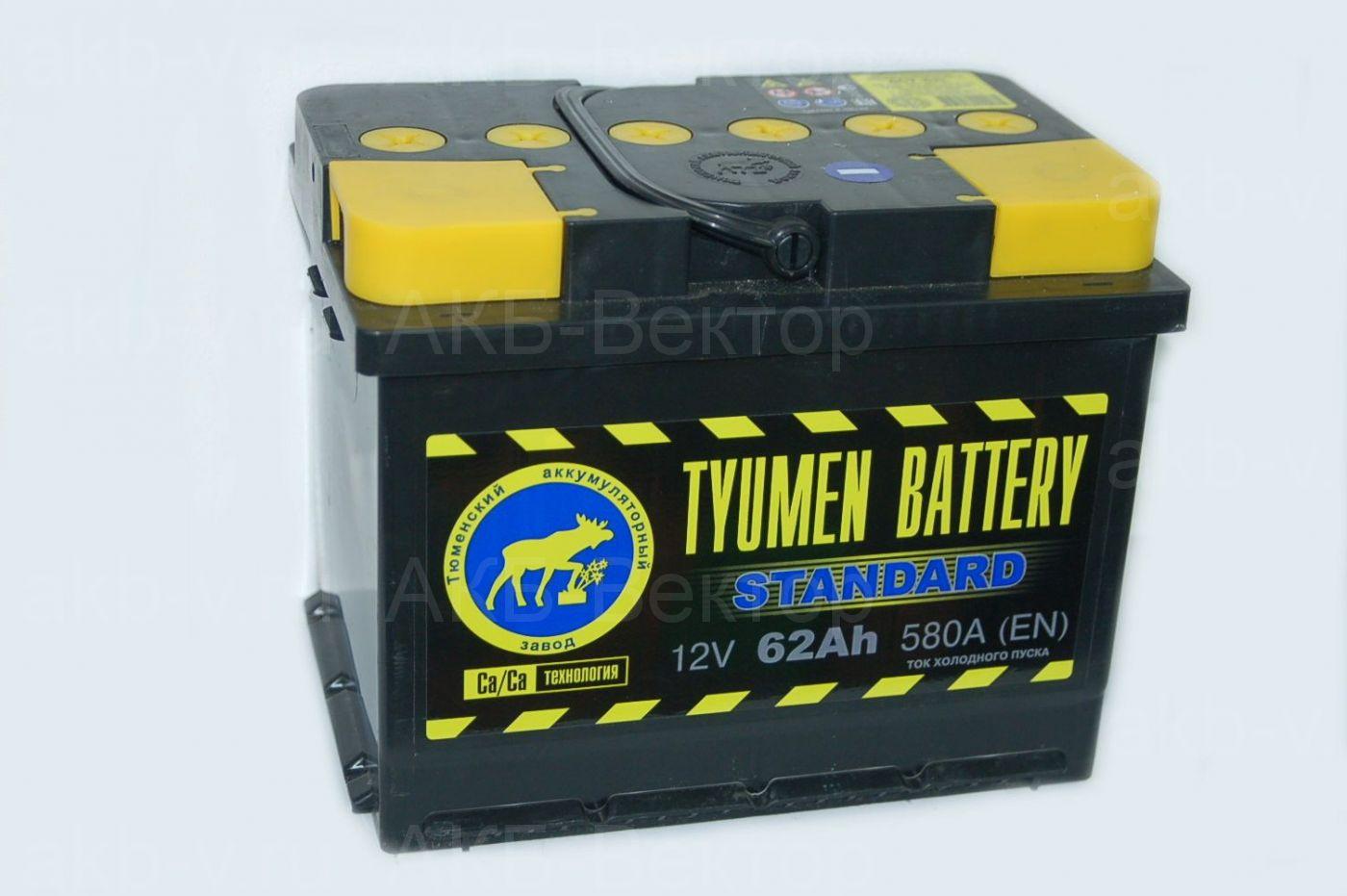 Tyumen Standart  62Ач 580А(EN)