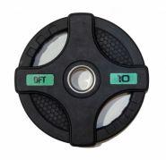 Диск олимпийский обрезиненный черный Original Fittools FT-2HGP-10 10кг