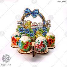 ПФК_003  Virena. Подставка для яиц из дерева для вышивки бисером.