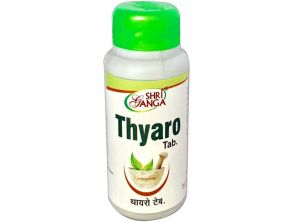 Thyaro tab ,шри ганга ,120 таб,для лечения заболеваний щитовидной железы