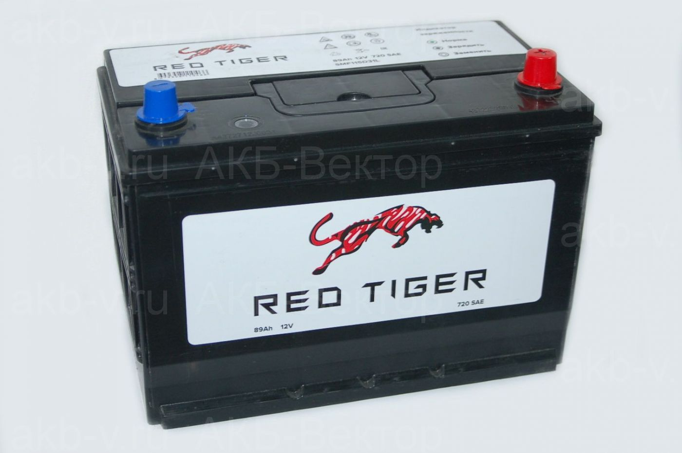 Red Tiger 89 Ач 720А (SAE) / SMF115D31L