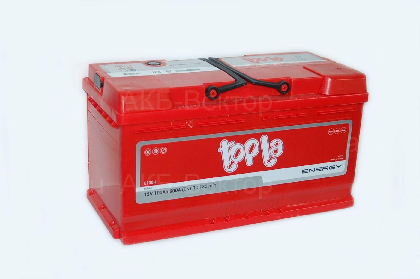 Topla Energy 100Ач 900А (EN) (108400)