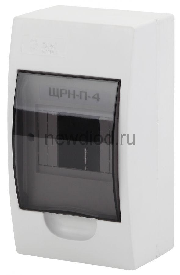 Бокс ЩРН-П-4 модуля навесн.пластик IP41 ЭРА SIMPLE