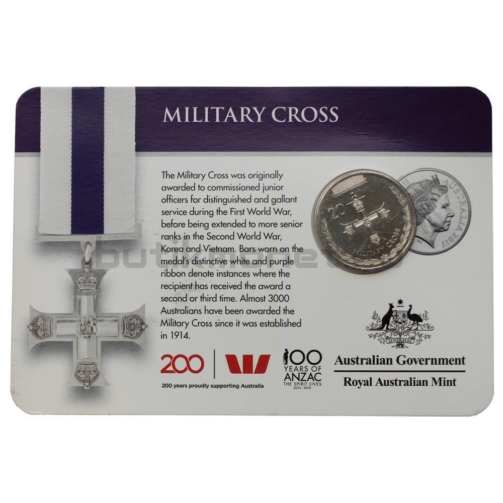 20 центов 2017 Австралия Военный крест (Медали почёта)