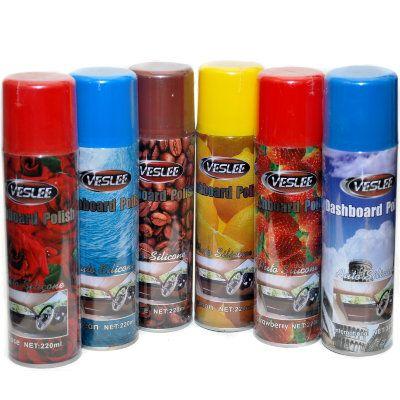 Veslee Очиститель-полироль с силиконом для пластика, кожи и резины ЖАСМИН (аэрозоль) AUTO SILICON, 220мл.