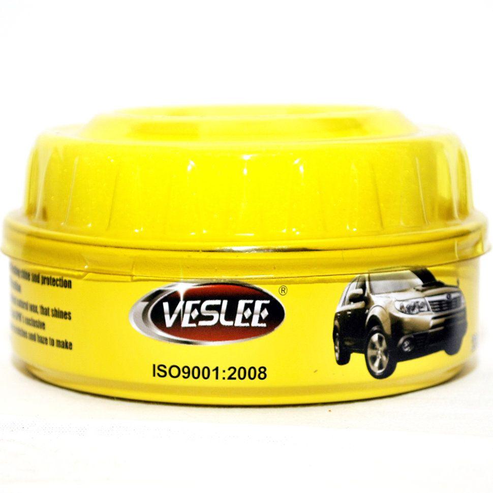 Veslee Полироль кузова - автовоск мягкий с карнаубой CARNAUBA CAR WAX в банке, вес 230гр.