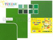 Набор цветного фетра 8 листов, 8 цв, А4, зеленый (арт. Tz-10130)