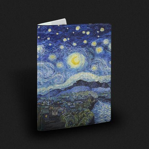 Обложка на паспорт  Звездная ночь, Ван Гог