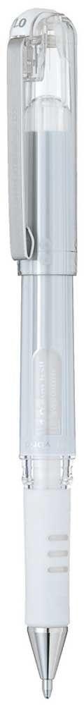 Гелевая ручка PentelGel Grip DX, стержень 1 мм, цвет чернил: белый