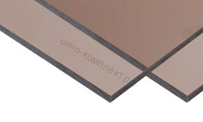 "Монолитный поликарбонат ""Карбогласс"" 10мм. Цвет: бронзовый,молочный.Размер: 2,05*3,05м"