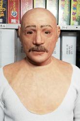 Реалистичная маска из латекса Мужик с усами