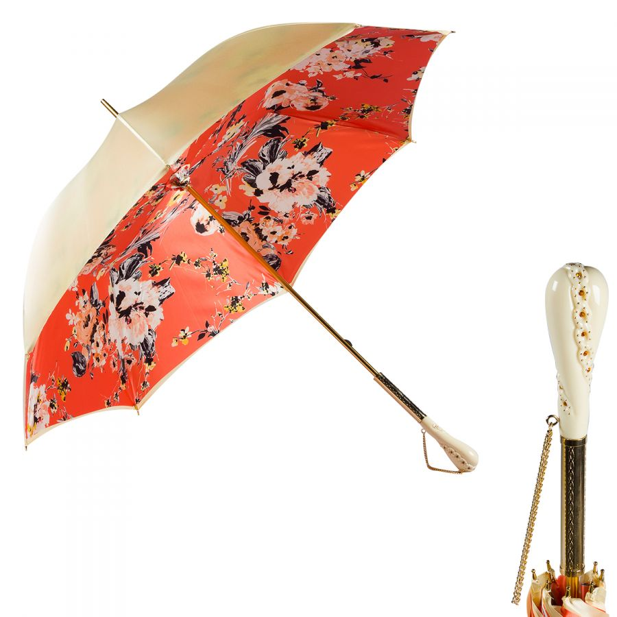 Зонт-трость Pasotti Crema Ticolori Coral Tress