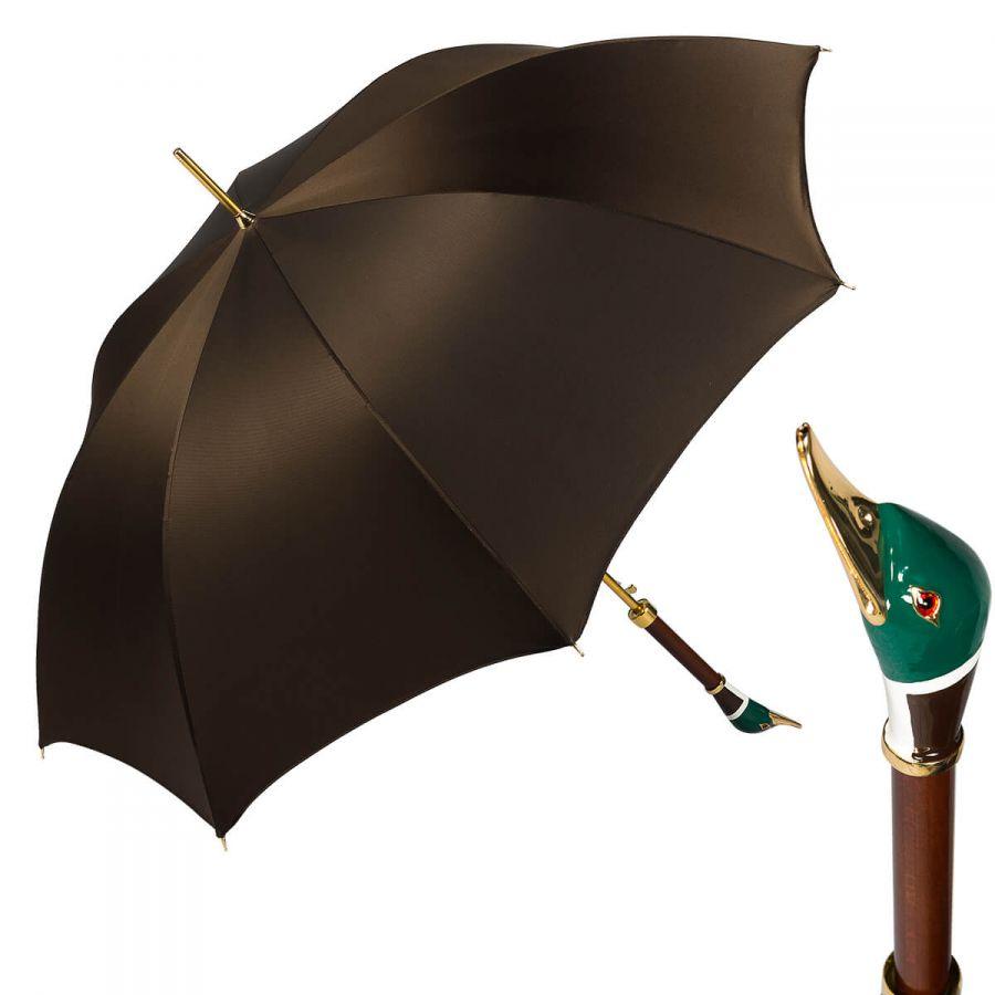 Зонт-трость Pasotti Oxford Marrone Drake Lux