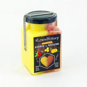 Крем мёд LoveHoney клюква и апельсин, 340 гр