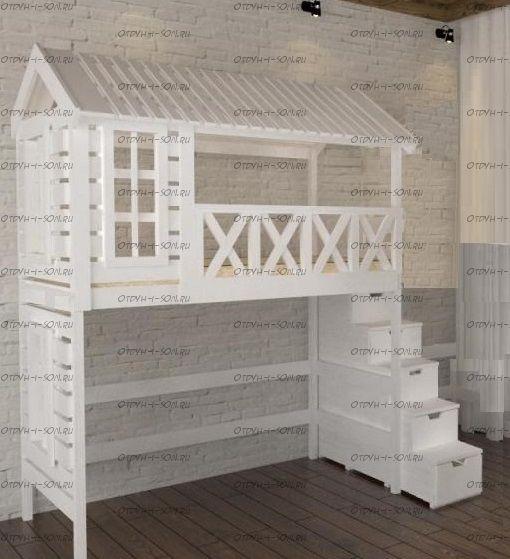 Кровать-чердак Домик Fairy Land Felicia №1 (любые размеры)