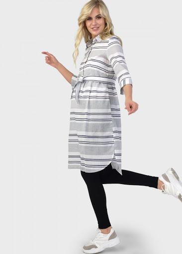 """Платье """"Донна"""" для беременных и кормящих; цвет: сине-белая полоска"""