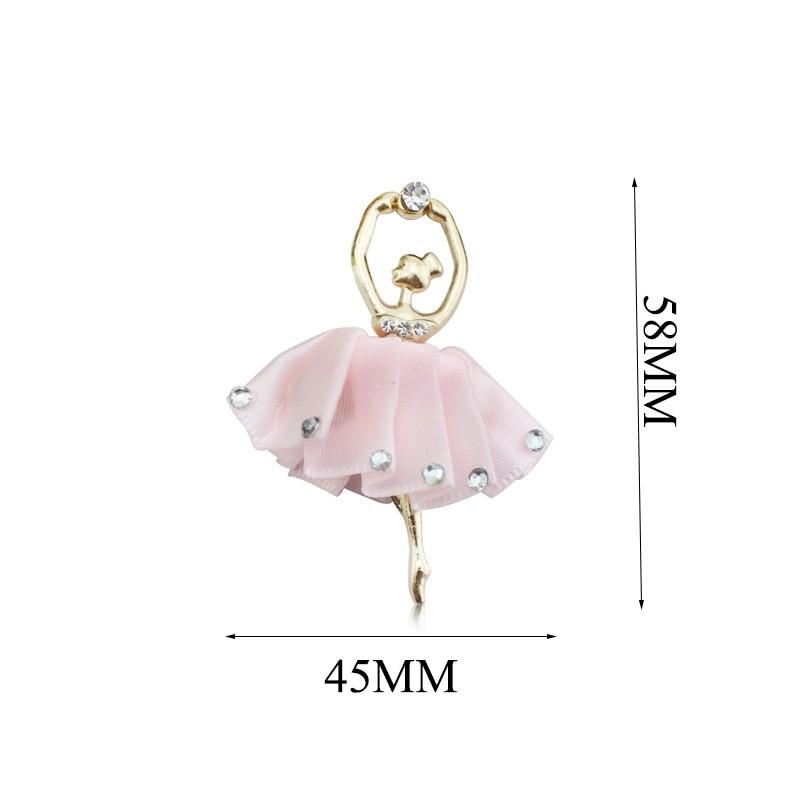 Украшение со стразами пришивное Балерина (TYN.B)