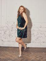 """Платье """"Пуансетия"""" для беременных; цвет: бутылочный"""