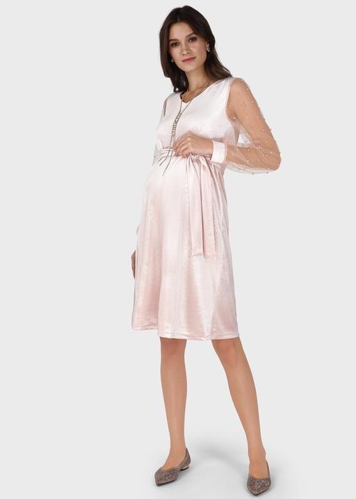 """Платье """"Новелла"""" для беременных; цвет: пудровый"""