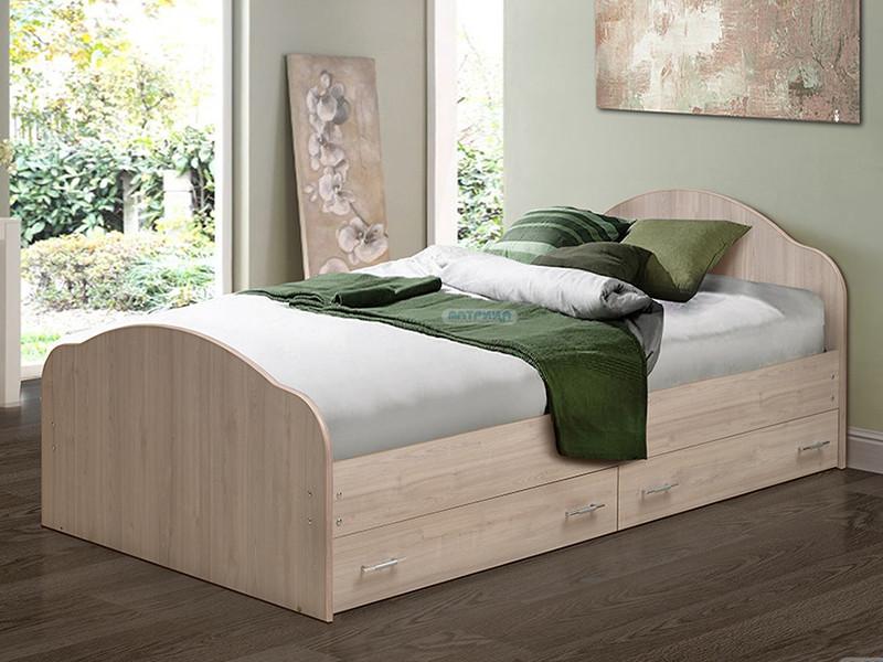 Кровать Волжск с ящиками спальное место от 800 до 1800