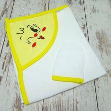 Полотенце для купания Мамин Малыш 01889-4 цвет желтый