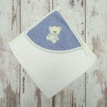Полотенце для купания Мамин Малыш 01889-5 вышивка мишка