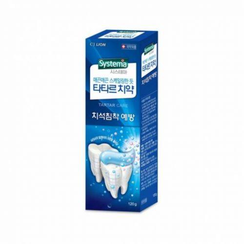 616764 LION Зубная паста для предотвращения зубного камня Systema tartar plus care toothpaste 120g