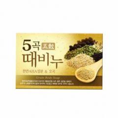 615118 LION Мыло скраб Scrub body soap five grains