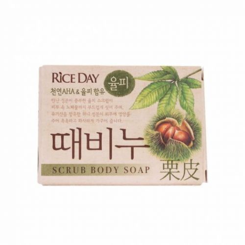 615125 LION Мыло скраб Scrub body soap chestnut