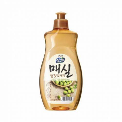 612254 LION Жидкость для мытья посуды с запахом абрикоса Chamgreen Japanese apricot 500g bottle