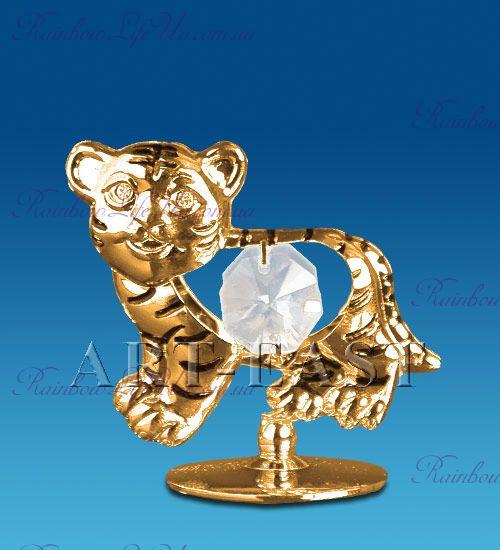 """Фигура тигр с хрустальными камнями """"Swarovski"""""""