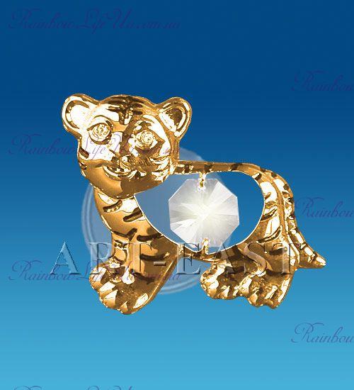 "Магнит тигр с камнем ""Swarovski"""