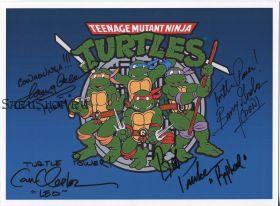 Автографы: Б. Гордон, К. Кларк, Р. Полсен, Т. Коулмэн. Черепашки мутанты ниндзя / TMNT