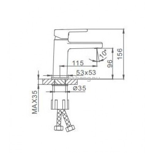 Смеситель для раковины Frap H60 F1060