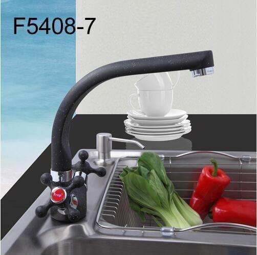 Черный смеситель для кухни Frap H5408 F5408-7