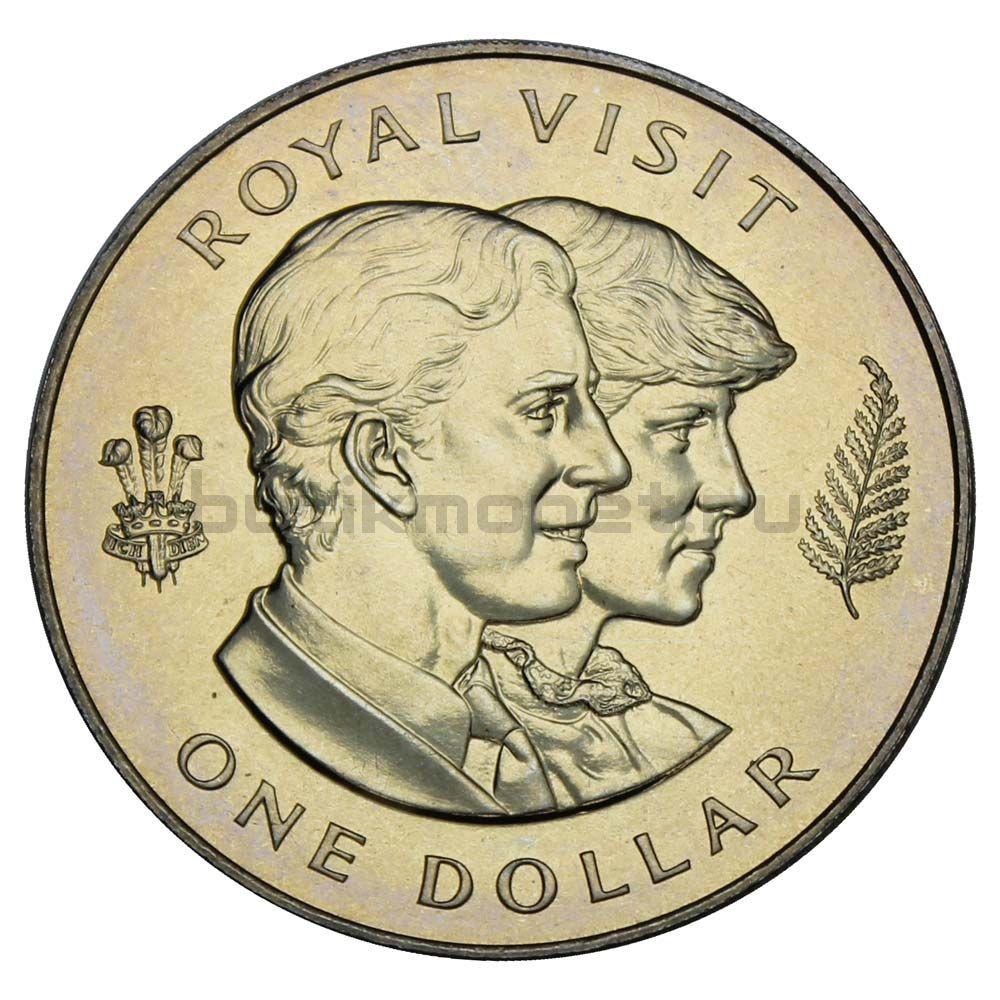 1 доллар 1983 Новая Зеландия Королевский визит
