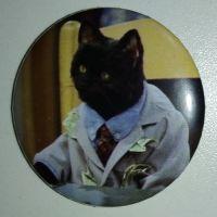 Значок (Средний 37 мм) Cat Salem Saberhagen